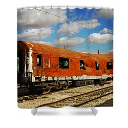 Oldie At Sidetrack Shower Curtain by Jenny Rainbow