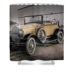 Shower Curtain featuring the photograph Old Ford Model A Coupe by Dyle   Warren