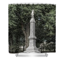 Ole Miss Confederate Statue Shower Curtain