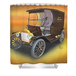 Shower Curtain featuring the painting Ole' No 1 by Chris Fraser