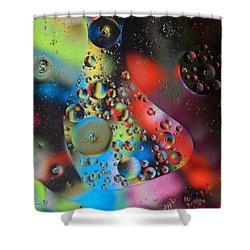 Olej I Woda 4 Shower Curtain by Joe Kozlowski