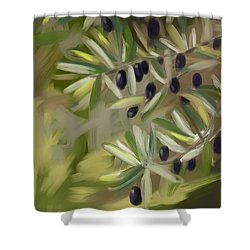 Olive Tree Shower Curtain by Go Van Kampen