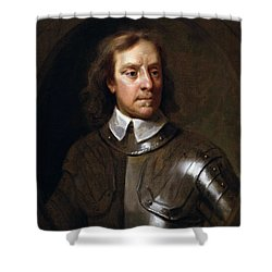 Oliver Cromwell Shower Curtain by War Is Hell Store