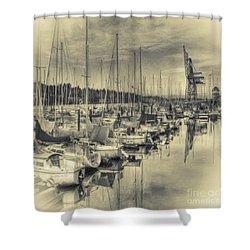 Shower Curtain featuring the photograph Olympia Marina 3 by Jean OKeeffe Macro Abundance Art