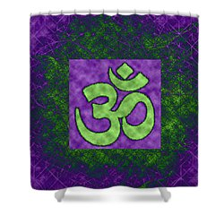 Om 15 Shower Curtain