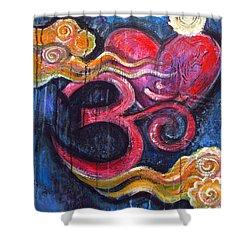 Om Heart Of Kindness Shower Curtain