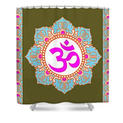 Shower Curtain featuring the photograph Om Mantra Ommantra 3 by Navin Joshi