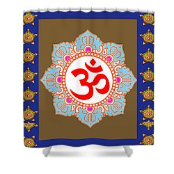 Shower Curtain featuring the photograph Om Mantra Ommantra Chant Yoga Meditation Tool by Navin Joshi