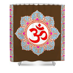 Shower Curtain featuring the photograph Om Mantra Ommantra by Navin Joshi