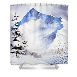 Shower Curtain featuring the painting O'malley Peak by Teresa Ascone