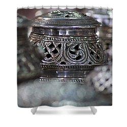 Omani Silver Shower Curtain