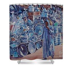 Omdurman Markit Shower Curtain by Mohamed Fadul