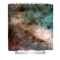 Omega Swan Nebula 1 Shower Curtain by The  Vault - Jennifer Rondinelli Reilly