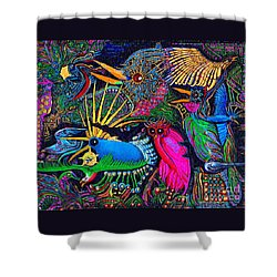 Omen Birds Shower Curtain by Peter Gumaer Ogden