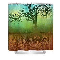 Omid Shower Curtain by Ryan Burton