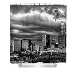 Ominous Charlotte Sky Shower Curtain by Chris Austin