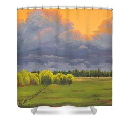 Ominous Forecast Shower Curtain