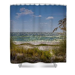 On A Clear Day Shower Curtain by Marvin Spates