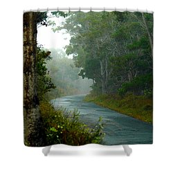 On A Country Road Shower Curtain