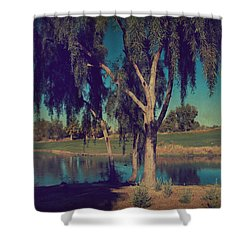 On A Lazy Afternoon Shower Curtain by Laurie Search