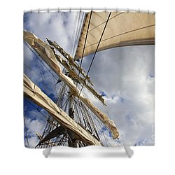 On A Sail Ship Shower Curtain