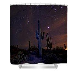 On A Starlit Night  Shower Curtain by Saija  Lehtonen