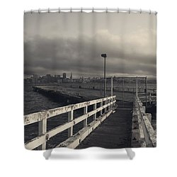 On And On Shower Curtain by Laurie Search
