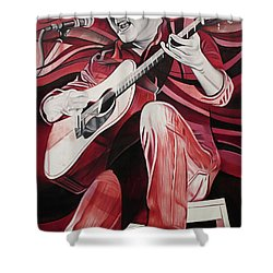 Dave Matthews-on Bended Knees Shower Curtain