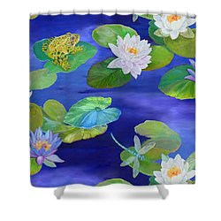 On Big Fresh Pond Shower Curtain by Kimberly McSparran