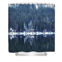 On Donner Shower Curtain by Donna Blackhall