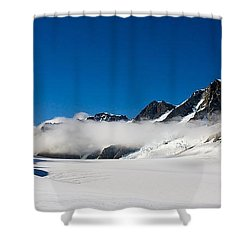 On Fox Glacier Shower Curtain