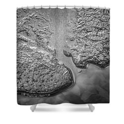 On Frozen Pond Collection 1 Shower Curtain by Roxy Hurtubise