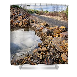 On Frozen Pond Collection 6 Shower Curtain by Roxy Hurtubise