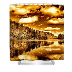 On Golden Pond Shower Curtain by David Patterson