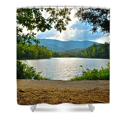 On Golden Pond Shower Curtain by Frozen in Time Fine Art Photography