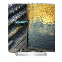 On Golden Pond Shower Curtain by Wayne Sherriff