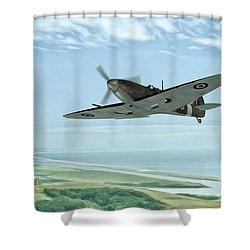 On Patrol Shower Curtain by John Edwards