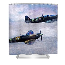 On Patrol Shower Curtain