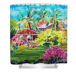 On The Big Island Shower Curtain