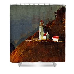 On The Bluff Shower Curtain by Kirt Tisdale