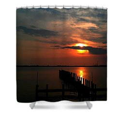 Shower Curtain featuring the photograph On The Boardwalk by Debra Forand