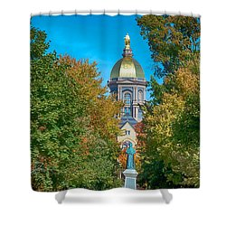 On The Campus Of The University Of Notre Dame Shower Curtain by Mountain Dreams