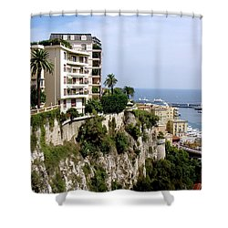On The Cliff In Monaco Shower Curtain