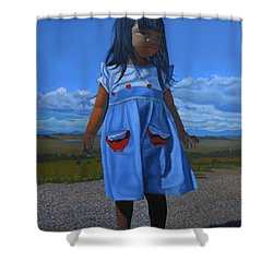 On The Divide Shower Curtain