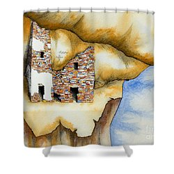 On The Edge Shower Curtain by Jerry McElroy