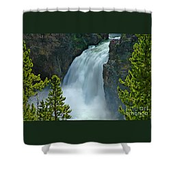 Shower Curtain featuring the photograph On The Edge by Nick  Boren