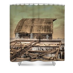 On The Farm Shower Curtain by Jane Linders