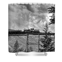 On The High Bridge Shower Curtain by Shelly Gunderson