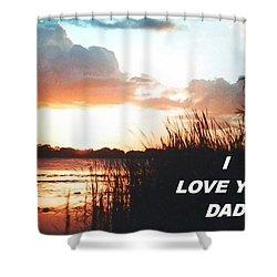 Lake Deer At Sunrise Shower Curtain
