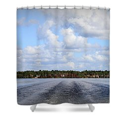 Shower Curtain featuring the photograph On The Lake by Debra Forand